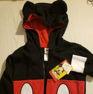 Mickey mouse zip up hoodie 12 month